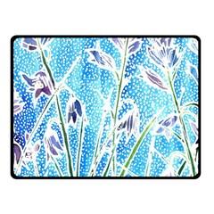 Art Batik Flowers Pattern Fleece Blanket (small)