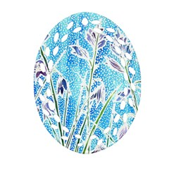 Art Batik Flowers Pattern Oval Filigree Ornament (two Sides) by BangZart
