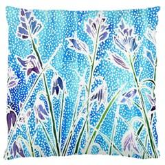 Art Batik Flowers Pattern Large Cushion Case (two Sides) by BangZart