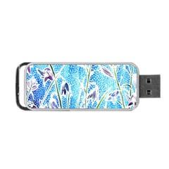 Art Batik Flowers Pattern Portable Usb Flash (one Side) by BangZart