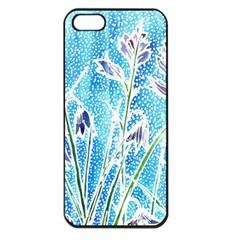 Art Batik Flowers Pattern Apple Iphone 5 Seamless Case (black) by BangZart