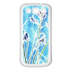 Art Batik Flowers Pattern Samsung Galaxy S3 Back Case (white)