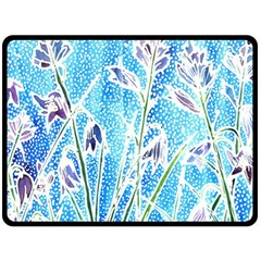 Art Batik Flowers Pattern Double Sided Fleece Blanket (large)  by BangZart