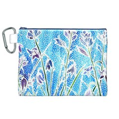 Art Batik Flowers Pattern Canvas Cosmetic Bag (xl) by BangZart