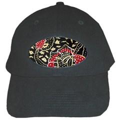 Art Batik Pattern Black Cap by BangZart