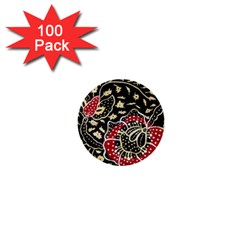 Art Batik Pattern 1  Mini Buttons (100 Pack)