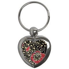 Art Batik Pattern Key Chains (heart)  by BangZart