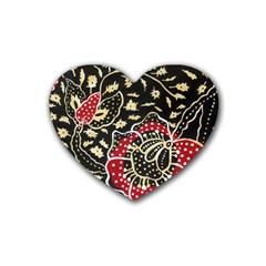 Art Batik Pattern Rubber Coaster (heart)