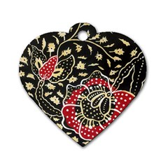 Art Batik Pattern Dog Tag Heart (one Side) by BangZart