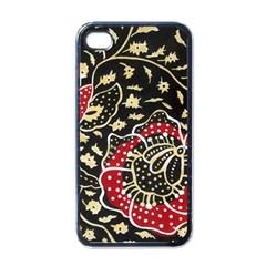 Art Batik Pattern Apple Iphone 4 Case (black) by BangZart