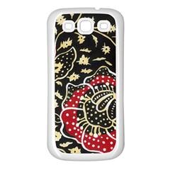 Art Batik Pattern Samsung Galaxy S3 Back Case (white) by BangZart