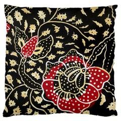 Art Batik Pattern Large Flano Cushion Case (two Sides) by BangZart