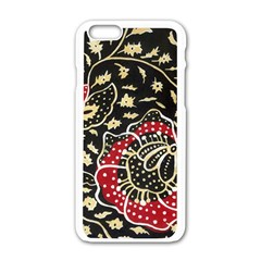 Art Batik Pattern Apple Iphone 6/6s White Enamel Case by BangZart