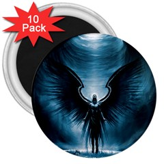 Rising Angel Fantasy 3  Magnets (10 Pack)