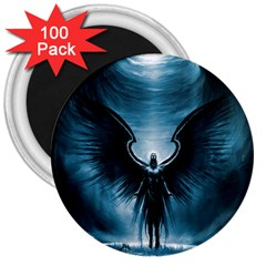 Rising Angel Fantasy 3  Magnets (100 Pack)