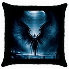 Rising Angel Fantasy Throw Pillow Case (black)
