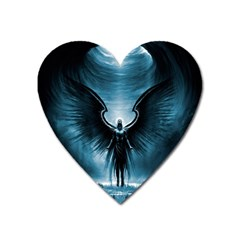 Rising Angel Fantasy Heart Magnet by BangZart