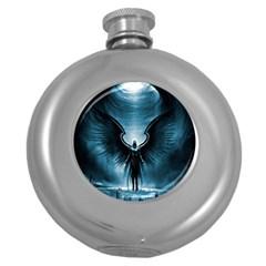 Rising Angel Fantasy Round Hip Flask (5 Oz)