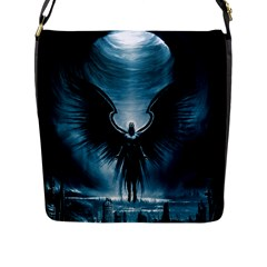 Rising Angel Fantasy Flap Messenger Bag (l)