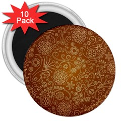 Batik Art Pattern 3  Magnets (10 Pack)