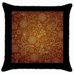 Batik Art Pattern Throw Pillow Case (black)