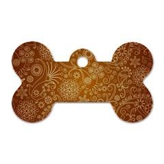Batik Art Pattern Dog Tag Bone (one Side)