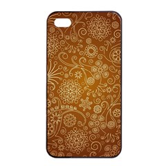 Batik Art Pattern Apple Iphone 4/4s Seamless Case (black)