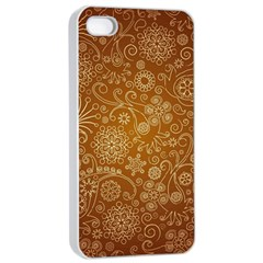 Batik Art Pattern Apple Iphone 4/4s Seamless Case (white)