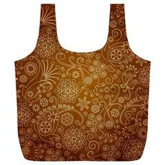 Batik Art Pattern Full Print Recycle Bags (l)