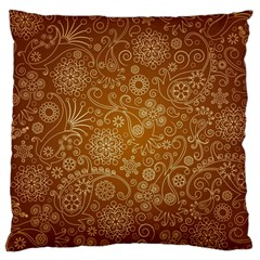 Batik Art Pattern Large Flano Cushion Case (two Sides) by BangZart