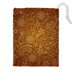 Batik Art Pattern Drawstring Pouches (xxl) by BangZart