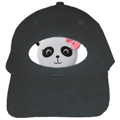 Pretty Cute Panda Black Cap by BangZart