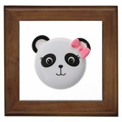 Pretty Cute Panda Framed Tiles by BangZart