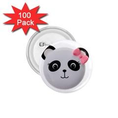 Pretty Cute Panda 1 75  Buttons (100 Pack)