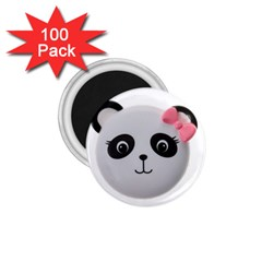 Pretty Cute Panda 1 75  Magnets (100 Pack)  by BangZart