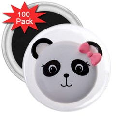 Pretty Cute Panda 3  Magnets (100 Pack)