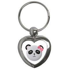Pretty Cute Panda Key Chains (heart)  by BangZart