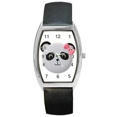 Pretty Cute Panda Barrel Style Metal Watch