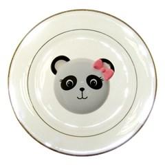 Pretty Cute Panda Porcelain Plates by BangZart