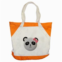 Pretty Cute Panda Accent Tote Bag by BangZart