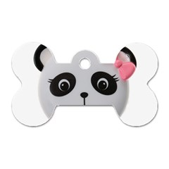 Pretty Cute Panda Dog Tag Bone (one Side)