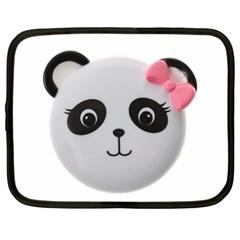 Pretty Cute Panda Netbook Case (large) by BangZart