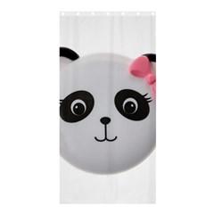 Pretty Cute Panda Shower Curtain 36  X 72  (stall)