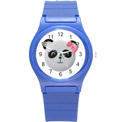 Pretty Cute Panda Round Plastic Sport Watch (s)