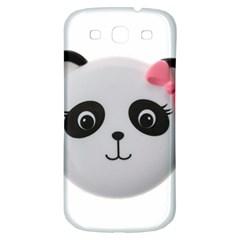 Pretty Cute Panda Samsung Galaxy S3 S Iii Classic Hardshell Back Case by BangZart