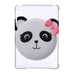 Pretty Cute Panda Apple Ipad Mini Hardshell Case (compatible With Smart Cover) by BangZart