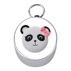 Pretty Cute Panda Mini Silver Compasses by BangZart