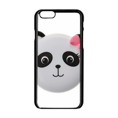 Pretty Cute Panda Apple Iphone 6/6s Black Enamel Case by BangZart