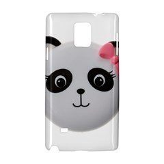 Pretty Cute Panda Samsung Galaxy Note 4 Hardshell Case by BangZart