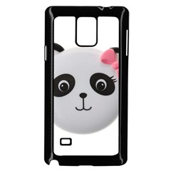 Pretty Cute Panda Samsung Galaxy Note 4 Case (black) by BangZart